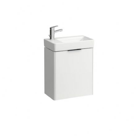 815955 - Laufen Pro S 480mm x 280mm Washbasin With Left Taphole & Base Vanity Unit - 8.1595.5